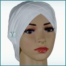 Bonnet Criss Cross Tube 2 colours Viscose Hijab cotton Cap Head Under scarf bone