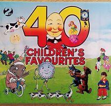 2CD NEW SEALED - 40 CHILDRENS FAVOURITES - Nursery Rhyme Kids Music 2x CD Album