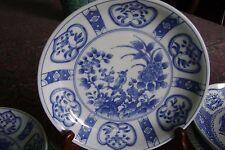 "9"" Porcelain Blue/White Imari Plate Japan FREE SHIPPING"