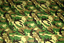Green Camouflage CAMO Military Oilcloth Fabric Tablecloth Cloth Material Cloth