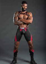 """NWT Men's Black & Red """"Nitro Short Jock"""" by MR-S-LEATHER - Size Small"""
