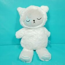 "Manhattan Toy Yeti Bear Sheep Plush Baby Lovey White Blue Stripe Stuffed 12"""