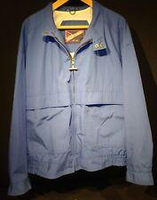 VTG Mighty Mac Jacket Size 1X Extra Large 46-48 Quality Boating Blue Windbreaker