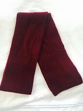 Sofia Cashmere Purple Red One Size Textured Ribbed Knit Solid Scarf $145