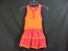 New Younghearts Size 18 Months Sleeveless Orange and Pink Dress With Briefs