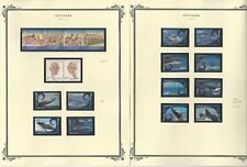Aitutaki Collection 1984 to 2012 on 6 Scott Specialty Pages, Mint NH Sets
