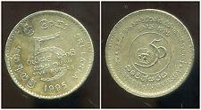 SRI LANKA  5 rupee 1995  ( bis )