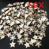 50Pcs/lot Natural wooden DIY Christmas tree Hanging Ornaments Pendant Xmas Decor