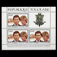 Togo, Sc #1105aa, MNH, 1981, S/S, Dianna & Charles, Gold Foil Label, CL042F