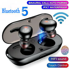 Y30 Wireless Bluetooth Headset Earphone Earbuds Touch Control Black TWS USA