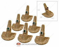 6 Burlap Ring Finger Jewelry Displays Ring Display Curve Base Jewelry