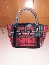 🌸Victoria's Secret Black & Red TARTAN / PLAID Tote Bag   BRAND NEW With TAG 🌸