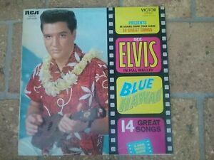 33 tours ELVIS PRESLEY ELVIS in hal wallis' blue hawaii 14 great songs