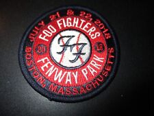 Foo Fighters Embroidered  00004000 Iron-on Patch Fenway Park Boston 2018