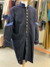"Civil War Navy Blue Corporal's Frock Coat, Sz 50"" (!) chest, Clean Reproduction"