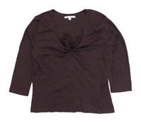 LK Bennett Womens Size L Cotton Brown Top (Regular)