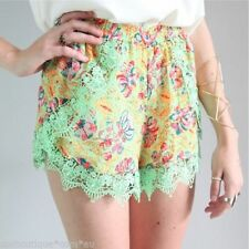 Lace Floral Regular Size Shorts for Women