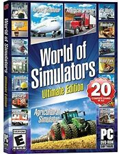 NEW - World of Simulators Ultimate Edition PC Game 20 Games in All Plane Tuck