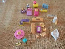 Vintage Tiny Dreams Polly Pocket Mini Dollhouse Blue Box Furniture Lot #2