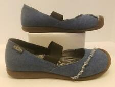 "EUC Keen Limited Edition Women's Size 7.5 Blue ""Good Jeans"" Mary Jane Flats Shoe"