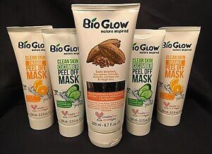 VEGAN Bio Glow Cocoa Butter Lotion & 2 x Cucumber & 2 x Orange Peel Off Mask