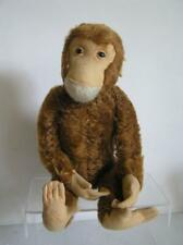 """Vintage Schuco Yes-No 20"""" Chimp Monkey Largest size Made Rust Mohair Works!"""