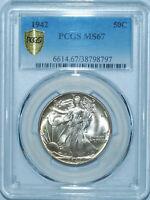 1942 PCGS MS67 Walking Liberty Half Dollar