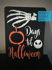 Countdown for Halloween Chalkboard Jack skellington Nightmare before christmas