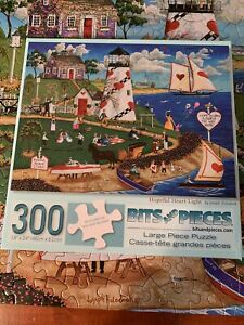 300 PC LG FORMAT  Bits & Pieces Jigsaw Puzzle HOPEFUL HEART LIGHT - Complete