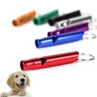 2 Pack Aluminium Keyring Dog Pet Puppy Training Loud Hiking Walk Whistle Kit#