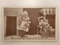 1930s CHRISTMAS Real Dressed CAT Dolls Warehouse Postcard VINTAGE Nyce Frees 765