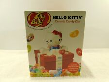 Jelly Belly Hello Kitty Ceramic Candy Dish W/5 Bags Jelly Beans