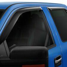 For Chevy Silverado 1500 LD 19 Window Deflector Tape-On Slim Design Smoke Front