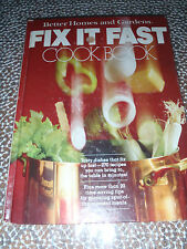 Fix It Fast Cook Book by Better Homes & Gardens (1979) Vintage 1970s cookbook