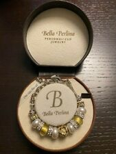 New in box beautiful Bella Perlina pearl and Gold rhinestone beads  bracelet