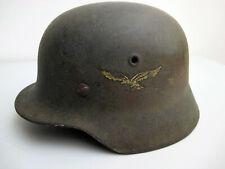 Stahlhelm Deutsche Wehrmacht Luftwaffe M40 WK 2 WW2 100% original !!!