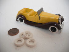 NEW TIRES! STANDARD DINKY15MM O/D SMOOTH WHITE TIRES. SET OF 4