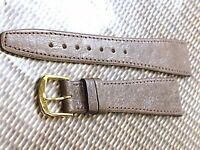 GENUINE PIG SKIN WATCH BAND 20MM BROWN VERY SOFT & SMOOTH