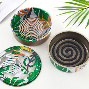 Mosquito Coil Holder Portable Mosquito Incense Burner for Home Outdoor CampPTUK