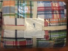 Pottery Barn Kids NEW Madras TWIN Quilt Multi-Color Plaid Patchwork