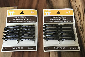 Vintage NIP Tip Top Rubber Dream Curlers 2 Cards Of 10 #S-88