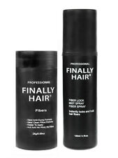 FINALLY HAIR BUILDING FIBERS BOTTLE & FIBER LOCK HAIR SPRAY - HAIR LOSS KIT USA