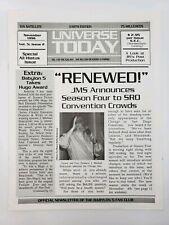 Babylon 5 Universe Today - Fan Club Newsletter - Vol 5 Issue 2 - Nov 96