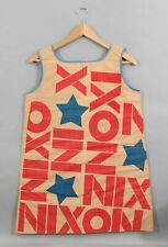 Vintage 1960s Political Presidential Richard NIXON Campaign Paper Pop Art Dress