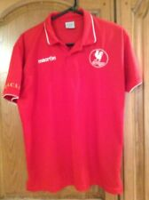 Macron Red Cockfosters F.C.  Polo T Shirt Size L
