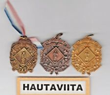 Scottish Highland Gathering Medals Edmonton Alberta 1950 60s Bronze Gold Sdta