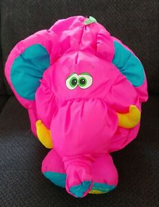 "Vintage Fisher Price 1994 Big Things Puffalump Pink Elephant 28"""