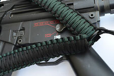 Tactical 550 Paracord Rifle Gun Sling Single Point Quick Detach BLACK MELLON
