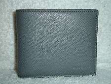 NEW COACH F74974 ASH MEN'S COMPACT ID CROSSGRAIN LEATHER  WALLET