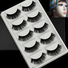 5Pairs Good Long Makeup Curly Thick False Eyelashes Eye Lashes Nautral Handmade